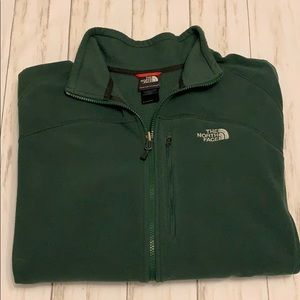 Men's North Face Zip- Up Jacket. Size XL (Green)